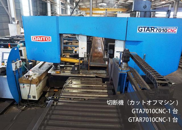 切断機(カットオフマシン) GTA7010CNC-1台 GTAR7010CNC-1台